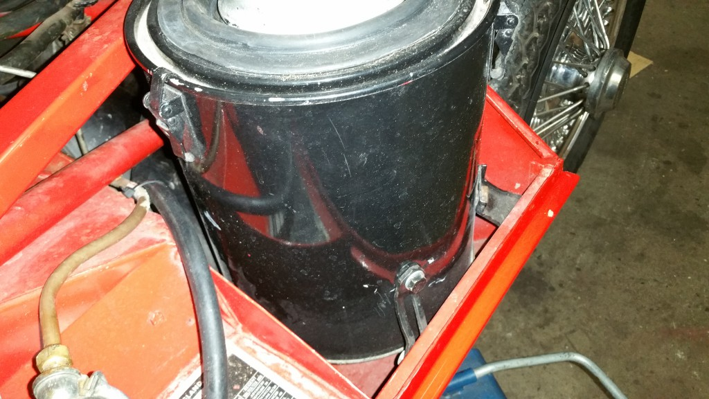 Air filter mounting bracket self made edition to be replaced