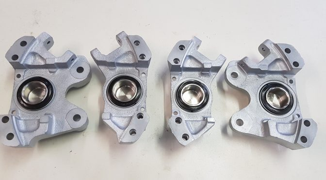 New stainless steel pistons rear brake of an E Type S3